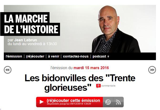 Radio – Les bidonvilles des «Trentes Glorieuses»